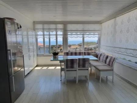 Didim Altınkum Satılık Yazlık, Deniz Manzaralı 4+1 Ayrı Mutfak Dubleks