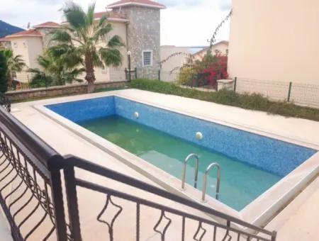 Didim Akbük Yeşilçam Sitesinde Satılık Deniz Manzaralı Havuzlu Villa